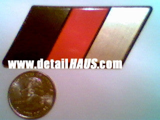 German Flag Racing Euro Badge (BRG - Black, Red, & Gold)