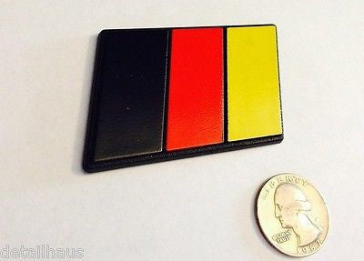 German Flag Racing Euro Badge - Medium Size