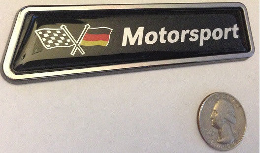 German Motorsport Racing Flag Euro Badge