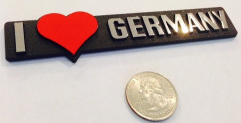 I love Germany - Red Heart Badge