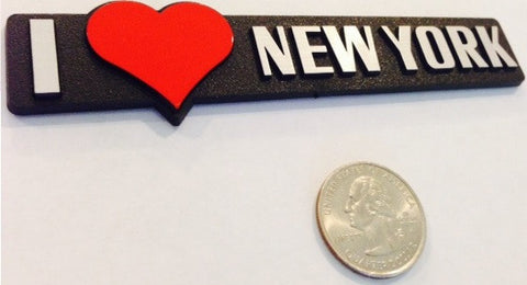 I love New York - Red Heart Badge