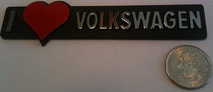 I love Volkswagen - Red Heart Badge