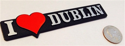 I love Dublin - Red Heart Badge