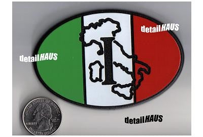Oval Italian I Badge