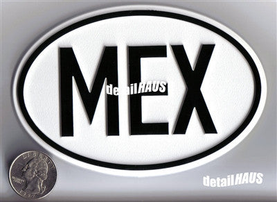 Large Oval Mexico - MEX Country Badge
