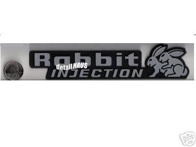 Silver/Chrome Rabbit Injection Badge