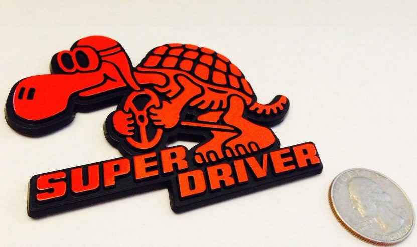 Red Super Driver - Racing Turtle Badge