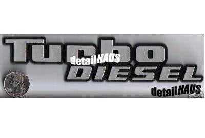Silver Turbo Diesel Badge