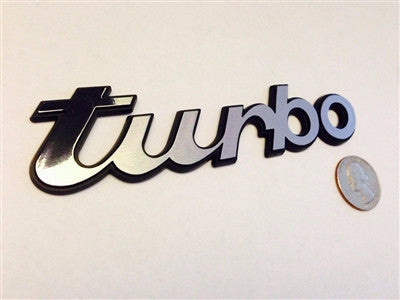 Silver/Chrome Turbo Badge