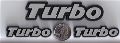 3 Pack - Silver/Chrome Turbo Badges