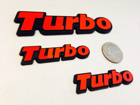 3 Pack - Red Turbo Badges