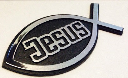 Jesus Fish - Christian Ichthus Badge