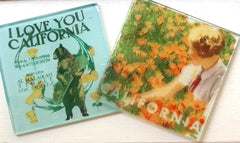 Glass coasters from Cuppa Fog's glass image transfer class