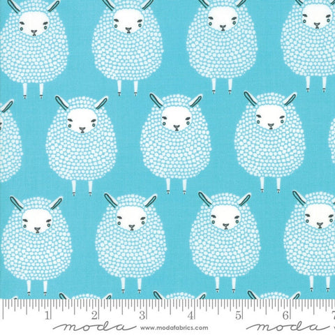 Cloth Face Mask - #143 - Sheep on Aqua