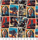 Cloth Face Mask - #164 - Mandalorian Trading Cards