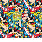 Cloth Face Mask - #122 - Wonder Woman Action Toss