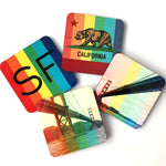 IN STOCK - Rainbow Pride San Francisco Landmarks Coasters - Set of 4