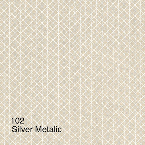 Cloth Face Mask - #102 - Silver Metallic on Lt Gold