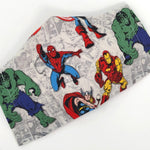 Cloth Face Mask - #25 Marvel Characters on Off-White