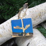 Mini Rectangle Ornament: Haight/Ashbury Corner Sign - Hand-Transferred Photo on Wood