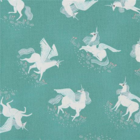 Cloth Face Mask - #162 - Pegasus on Pastel Green