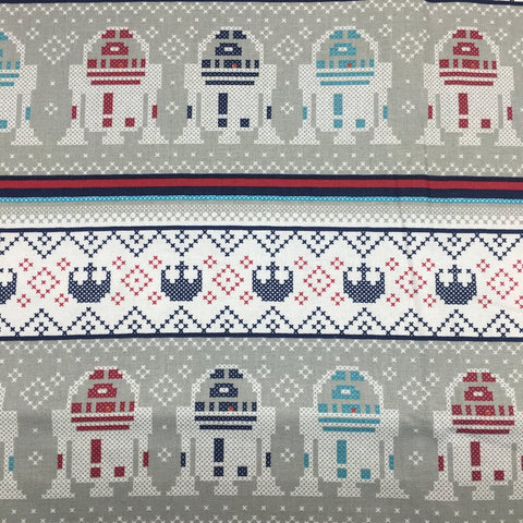 Cloth Face Mask - #205 - Star Wars Ugly Sweater Style R2-D2