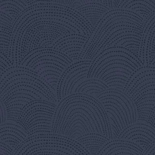 Cloth Face Mask - #214 - Blue Gray/Dk Navy Dotted Scallop