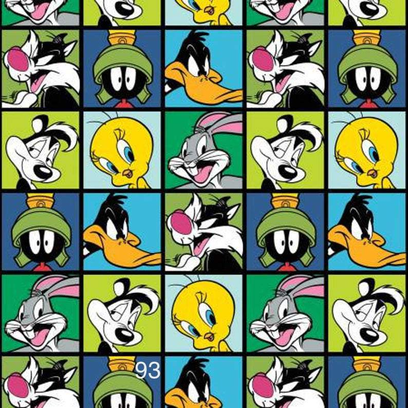Cloth Face Mask - #93 - Looney Tunes Squares