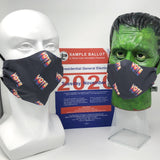 Cloth Face Mask - #193 - Vote on Dk Gray