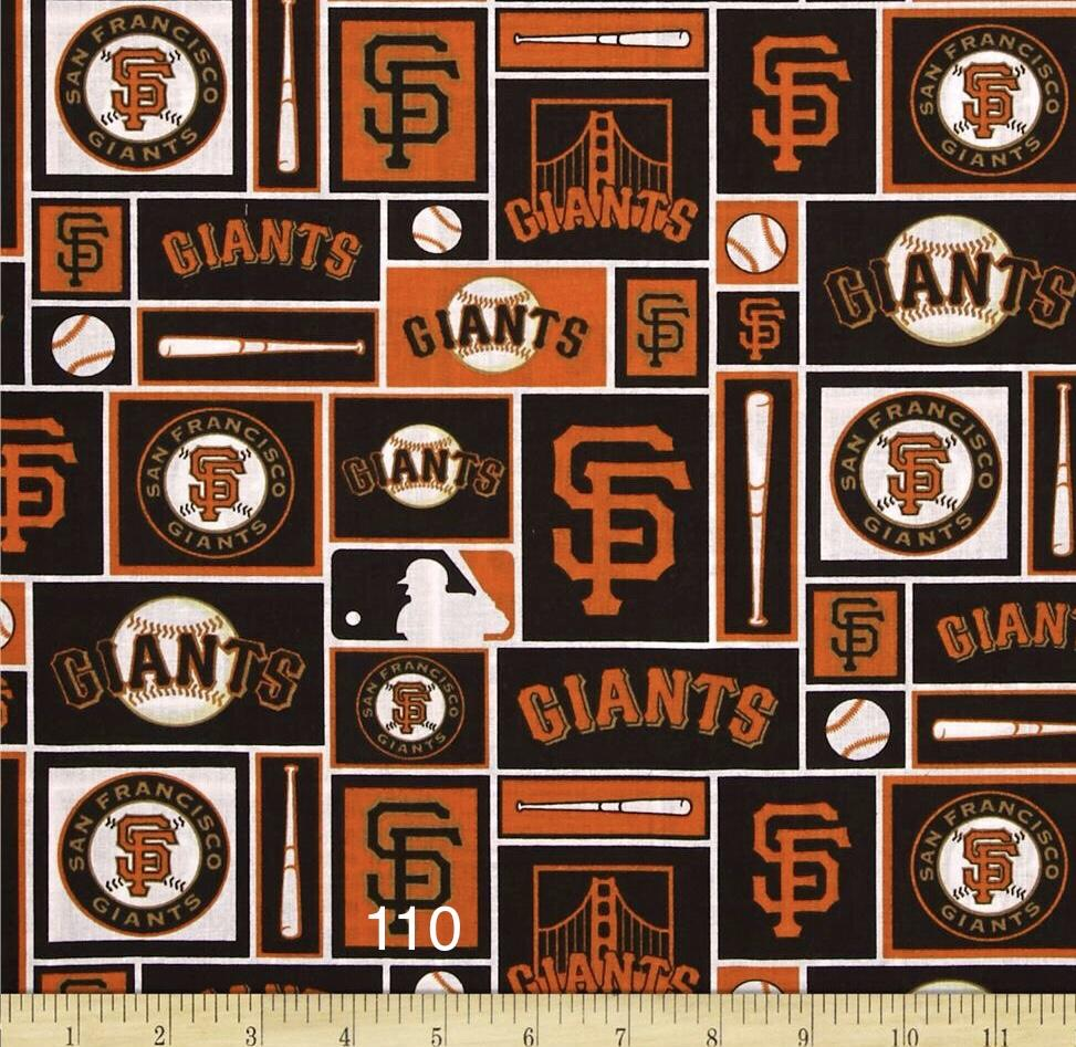 Cloth Face Mask - #110 - SF Giants Rectangles