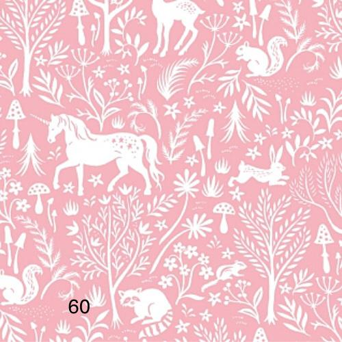 Cloth Face Mask - #60 - Unicorn Forest Toile
