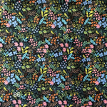 Cloth Face Mask - #86 - Rifle Paper Co Garden Print on Navy