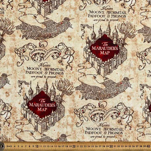 Cloth Face Mask - #269 - Harry Potter Hogwarts Marauders Map