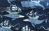 Cloth Face Mask - #58 - Whales with Ships