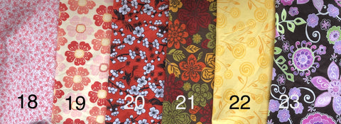 Cloth Face Mask - #21 - Fall Flowers on Brown