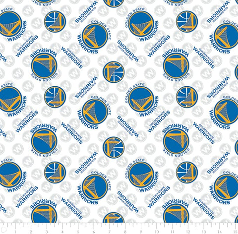 Cloth Face Mask - #191 - Warriors Basketball Logo on White