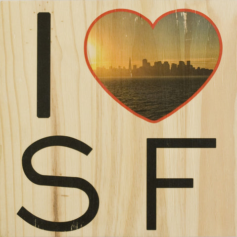 I Heart SF: Sunset View from Treasure Island - Square