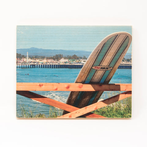 Surfboard Beach Boardwalk Vista - Rectangle