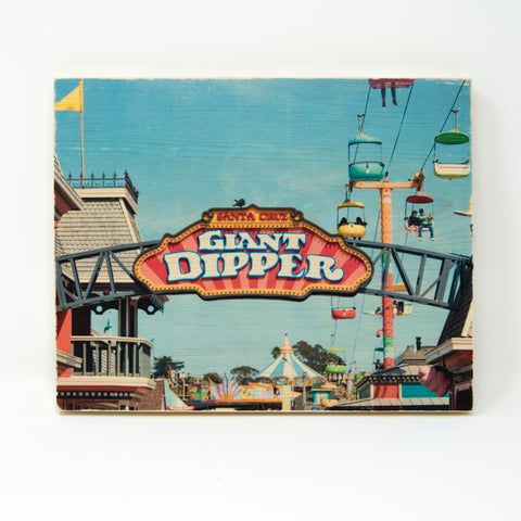 Giant Dipper Beach Boardwalk Sign - Rectangle