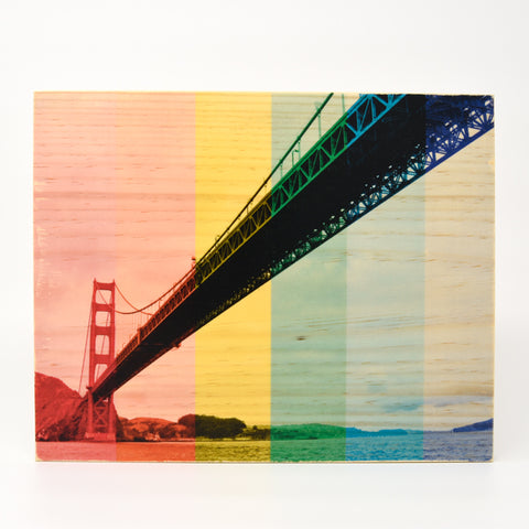 Rainbow Pride: Sailor's Golden Gate Bridge - Rectangle