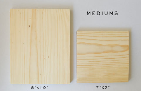 Blank Wood for Your Own Image Transfer - Assorted Sizes