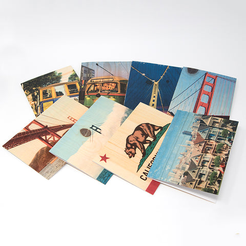 San Francisco and Coastal Single Notecard - Assorted Images