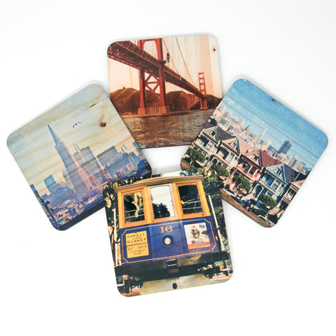 San Francisco Landmarks Coasters - Set #1