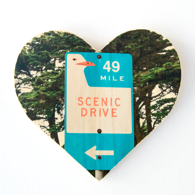 49 Mile Scenic Drive Sign - Heart