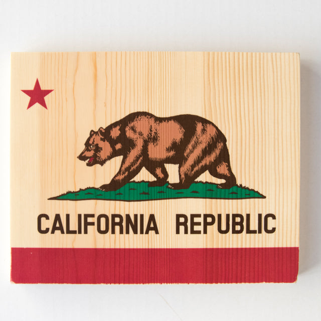 California Bear State Flag - Rectangle