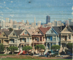 The Painted Ladies - Hand-Transferred Photo on Wood