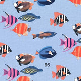 Cloth Face Mask - #96 - Tropical Fish on Blue