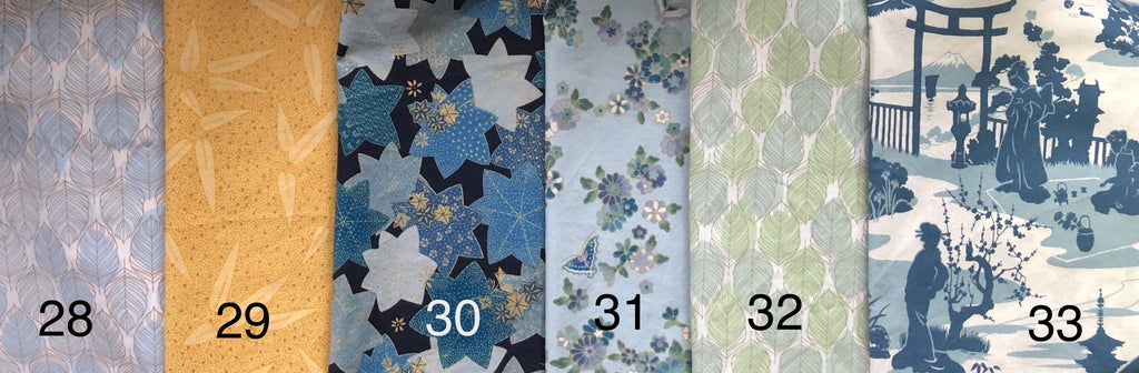 Cloth Face Mask - #32 - Green/Blue Leaves