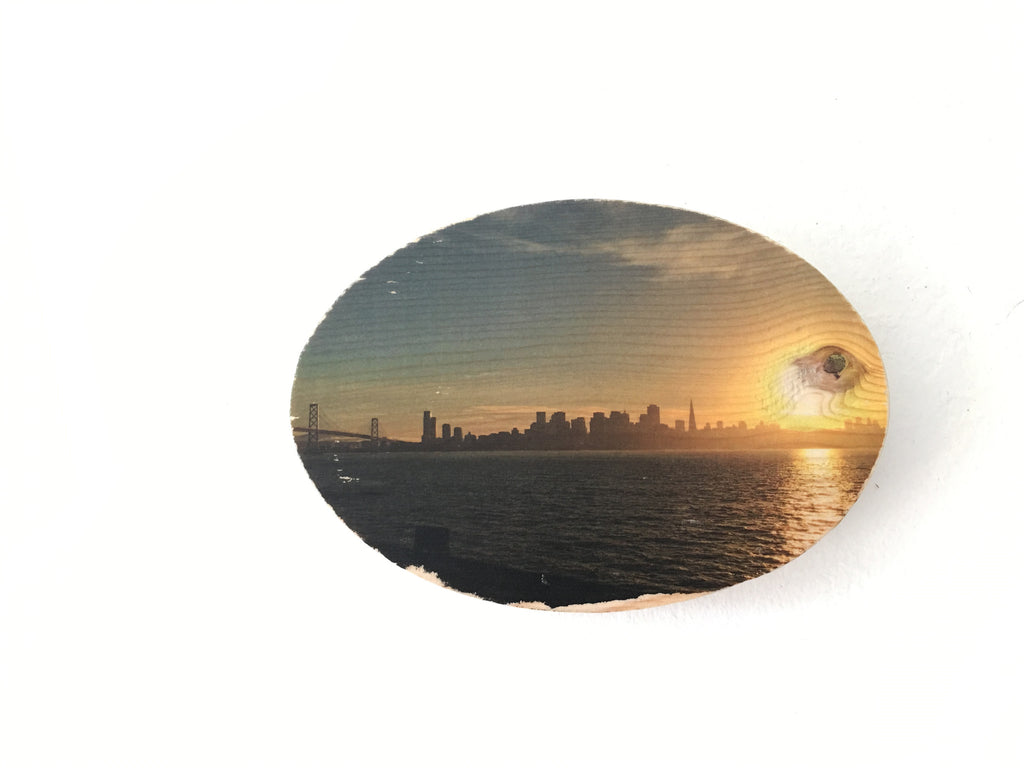 Sunset View from Treasure Island - Oval