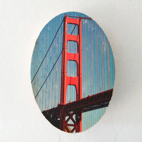 International Orange: Golden Gate Bridge - Round or Oval